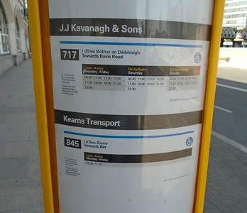 Bus Stop on Georges Quay 28 May 2020 Seems to have been updated.