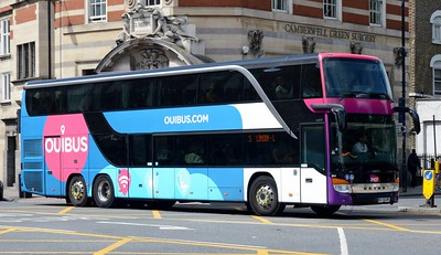 DV-152-BF Camberwell Green 25 July 2016 SNCF coach service.