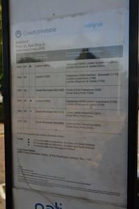 National Express Timetable Park St, Ashford 6 June 2017