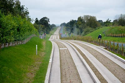 Westwards on the Leigh busway 21 August 2016