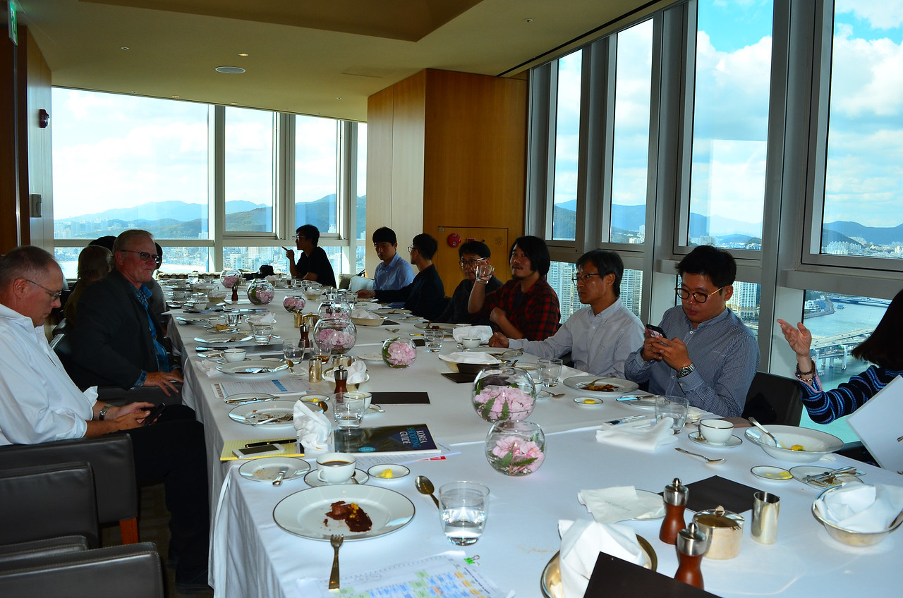 Final lunch on the top of the Hyatt