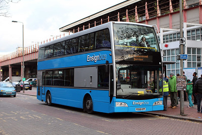 Ensignbus 124-PO58KPP ex Kent Top Travel on SWT Rail Replacement at Clapham Junction