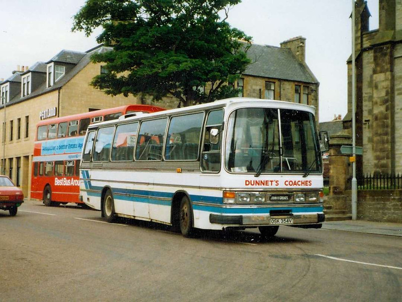 Dunnet's Coaches OSK354V, Thurso, 22nd June 1988