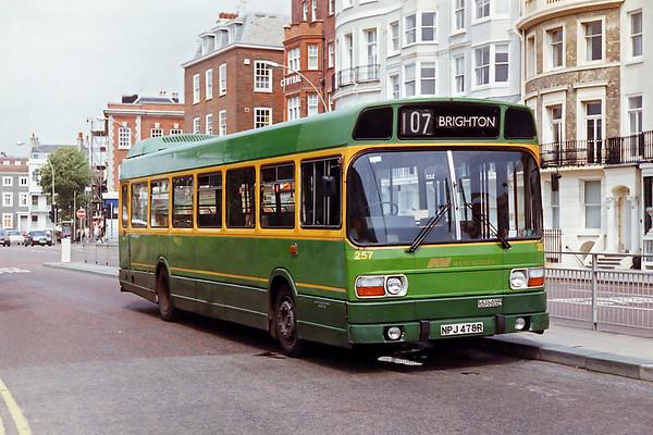 Alder Valley 257 NPJ478R, Brighton 9/8/1992