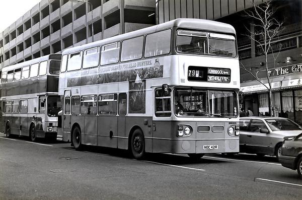 HDG935 NOC421R, Liverpool 24/2/1992
