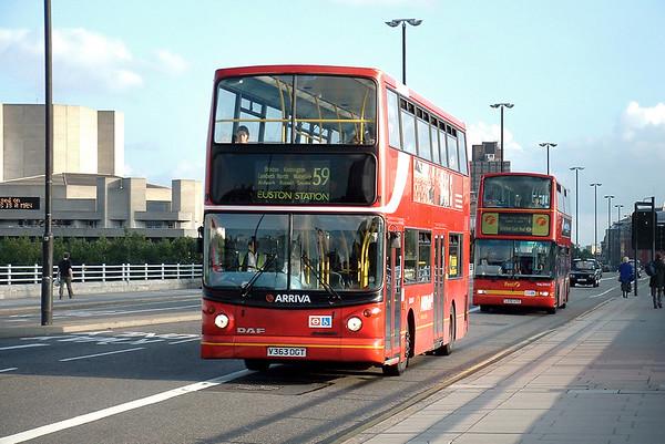 DLA163 V363DGT, Waterloo Bridge 30/9/2004