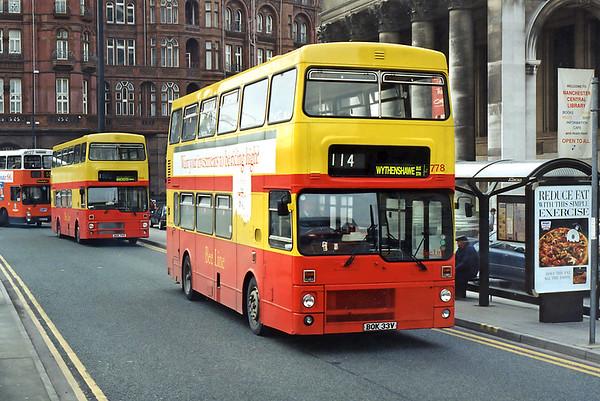 778 BOK33V and 788 BOK79V, Manchester 24/2/1995