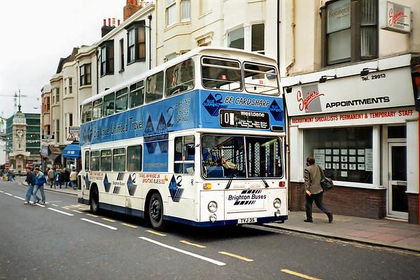 3 TYJ3S, Brighton 18/5/1991