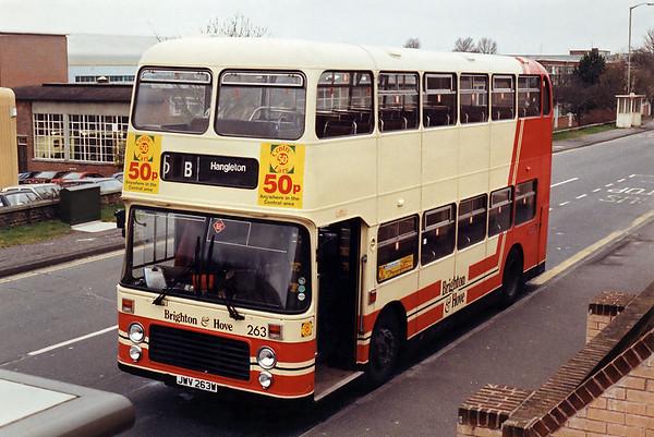 263 JWV263W, Hollingbury 1/2/1994