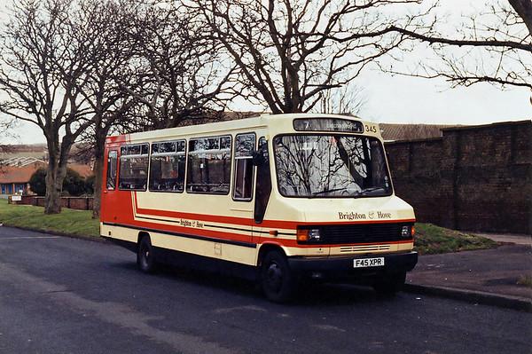 345 F45XPR, Bristol Estate 2/2/1994