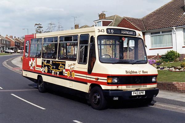 343 F43XPR, Hangleton 21/4/1995