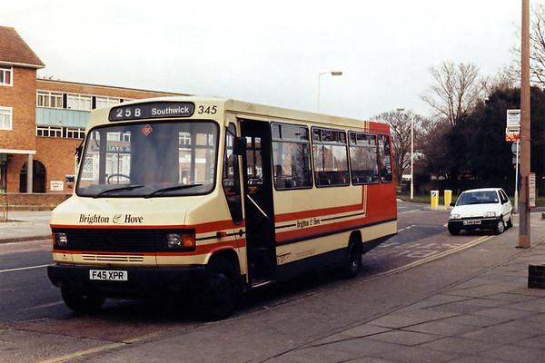 345 F45XPR, Southwick 13/2/1994