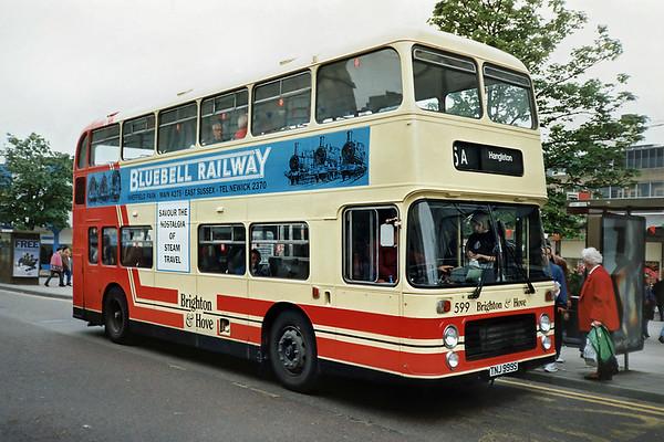 599 TNJ999S, Brighton 18/5/1991