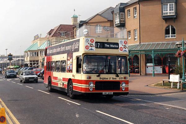 619 UWV619S, Brighton Marina 19/8/1995