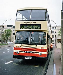 726 G726RYJ, Brighton 18/5/1991