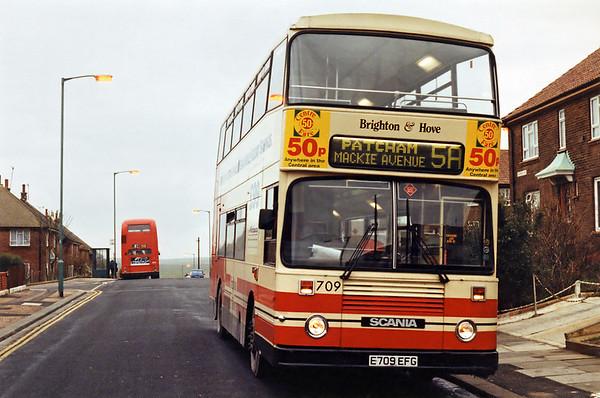 709 E709EFG, Hangleton 18/1/1994