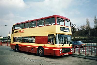 167 FFR167S, Burnley 13/3/1991