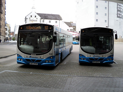 Ulsterbus Scania/wright solar in laganside bus terminal in belfast