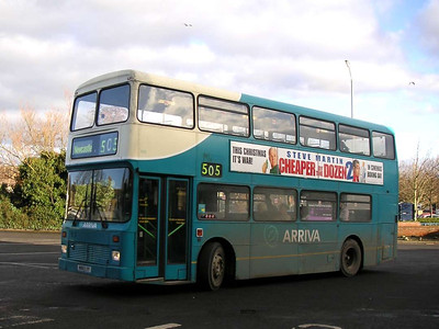 Arriva 7255 (M180LYP), Morpeth, 26th January 2006