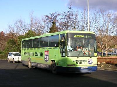 Northumbria Coaches K572DFS Morpeth, 26th January 2006