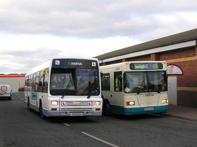 Arriva 9988 (G510EAJ) & 282 (N282NCN), Ashington, 26th January 2006