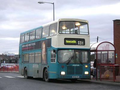 Arriva 7422 (M686HPF), Ashington, 26th January 2006