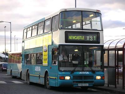 Arriva 7412 (P412CCU), Ashington, 26th January 2006