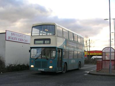 Arriva 7424 (M688HPF), Ashington, 26th January 2006