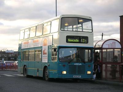 Arriva 7421 (M685HPF), Ashington, 26th January 2006