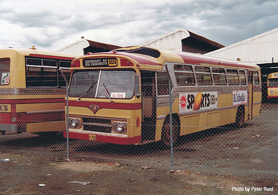 m/o 200 Leyland Worldmaster ('57)/Smithfield (11/73) (Rebody of Ex MTT Adelaide 826) Photo taken at Northmead Depot in 1983. (Image from the Peter Reid Collection)