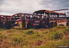 Right is m/o 4931 Leyland Worldmaster/Smithfield (?/79) (Rebody of ex MTT Adelaide 919, Originally 957) (Damaged by fire in depot on 5/2/83 and later scrapped) Photo taken at Northmead Depot in 1983. (Image from the Peter Reid Collection)