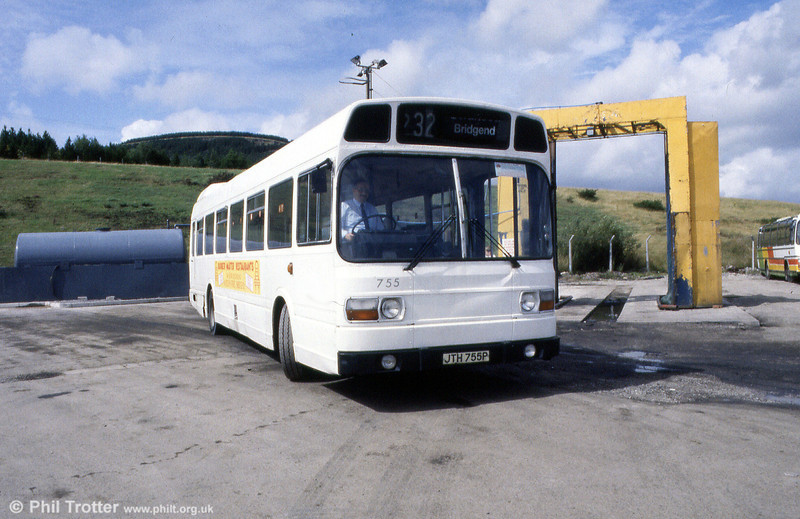 Former SWT 755 (JTH 755P) had been painted in overall white and transferred to Brewers by the time this photo was taken.