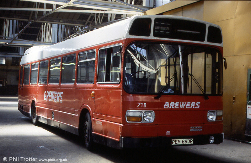 Brewers Leyland National B49F 718 (PEV 690R) was new to Eastern National as 1778 in 1976.