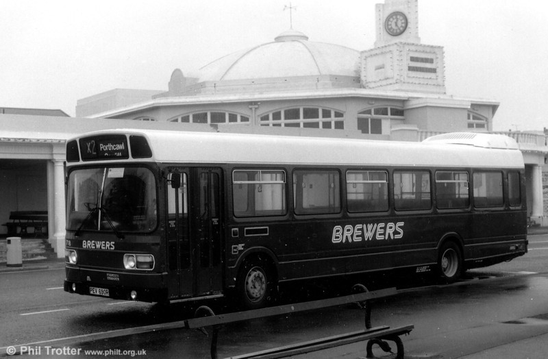 Brewers 1976 Leyland National B49F 718 (PEV 690R), which in a previous life had been Eastern National 1778.