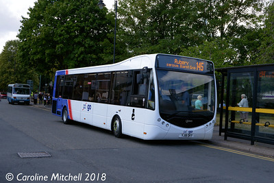 igo YJ18DKY, Bromsgrove Bus Station, 31st July 2018