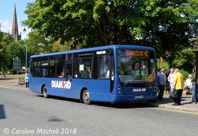 Diamond 30804 (KX57OVV), Bromsgrove Bus Station, 31st July 2018