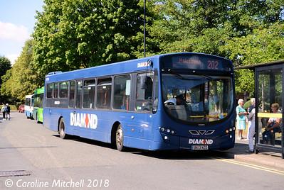Diamond 30938 (BK13NZO)Bromsgrove Bus Station, 31st July 2018