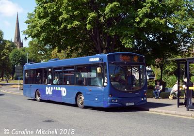 Diamond 30814 (FJ57CYU), Bromsgrove Bus Station, 31st July 2018