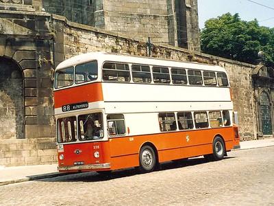 STCP 235, Rua do Infante Dom Henrique, Porto, June 1986