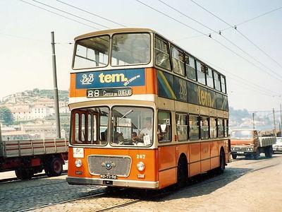 STCP 267, Rua Nova da Alfandega, Porto, June 1986