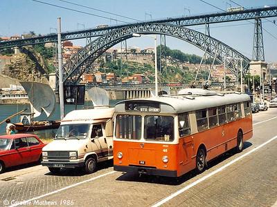 STCP 45, Avenida de Diogo Leite, Vila Nova de Gaia, June 1986