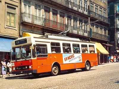 STCP 71, Rua de Mouzinho da Silveira, Porto, June 1986