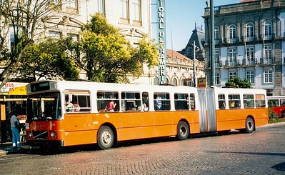 STCP 1013, Praca da Liberdade, Porto, June 1986