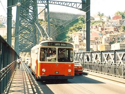 STCP 38, Ponte de Dom Luis I, Porto, June 1986