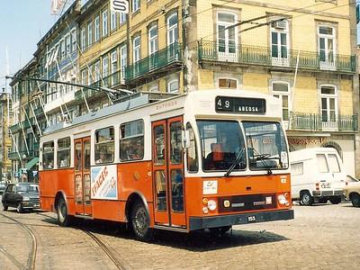 STCP 62, Rua Nova da Alfandega, Porto, June 1986