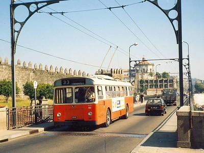 STCP 50, Ponte de Dom Luis I, Porto, June 1986
