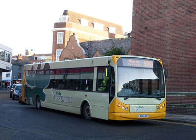 First DMW43923 (LK56JKF), North Street, Guildford, 2nd January 2010