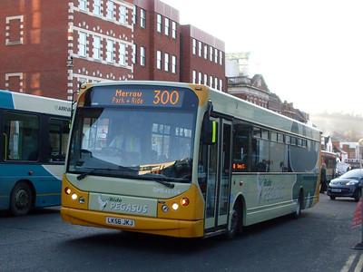 First DME43924 (LK56JKJ), North Street, Guildford, 2nd January 2010