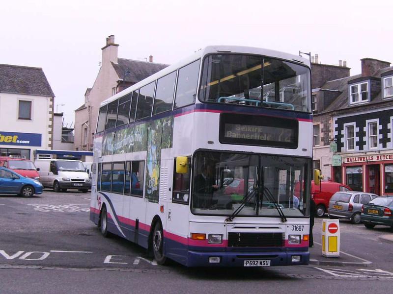 First 31687 (P592WSU), Selkirk, 3rd April 2009
