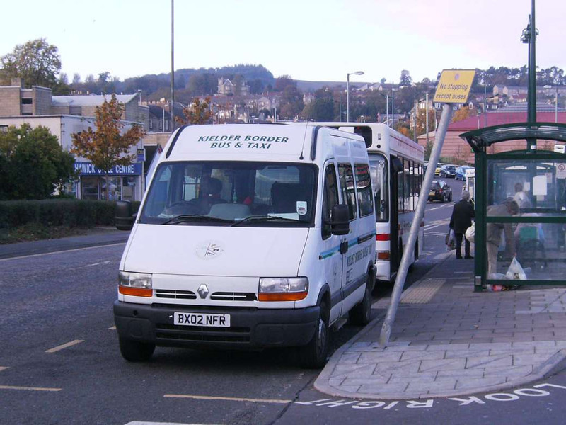Kielder Border Bbus & taxi BX02NFR, Hawick, 20th October 2007